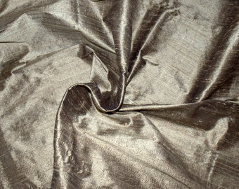 Silk Dupioni in   Gold - Black - Extra wide 54 inches Half Yard, DEX 202