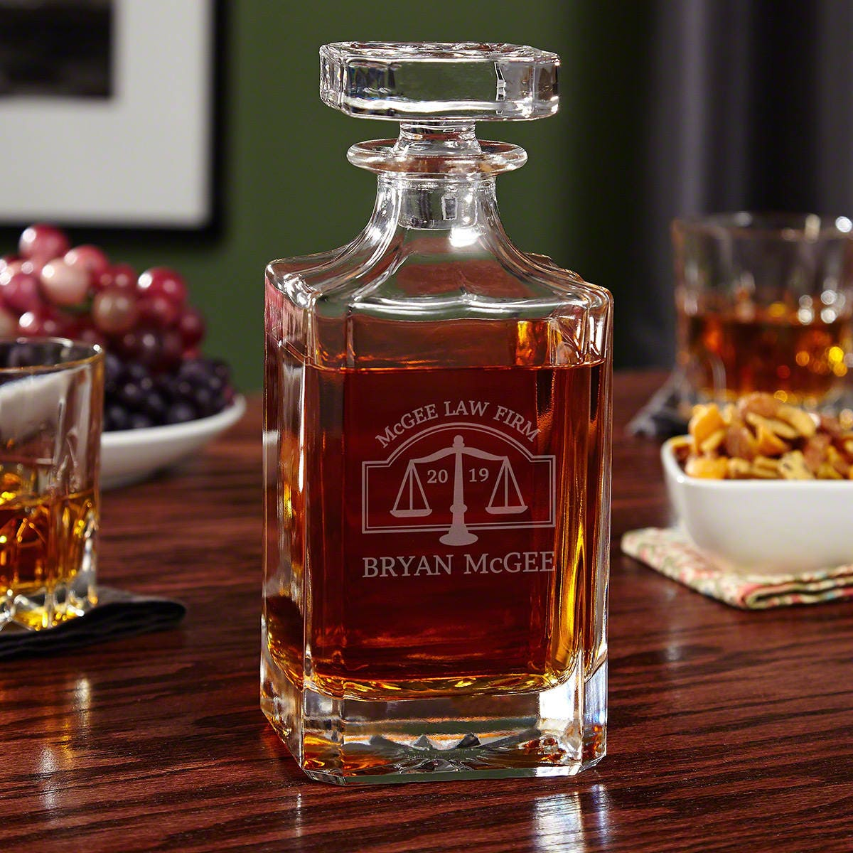Personalized Hamilton Whiskey Decanter Perfect Gift For