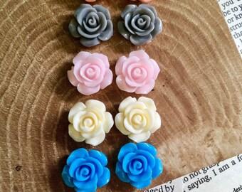 14mm Blossoming Rose Earrings