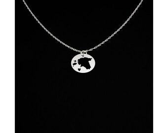Estonia Necklace - Estonia Jewelry - Estonia Gift