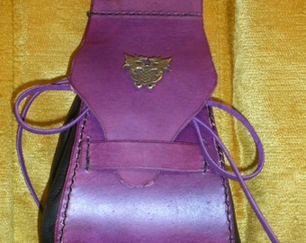 Purple expanding belt pouch