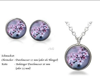 Jewelry Necklace and earrings-cherry blossoms-15