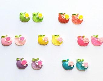 Kawaii apple cabochons