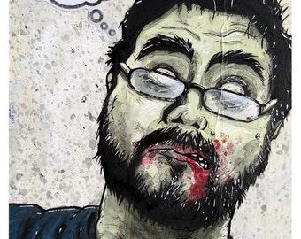 Film Zombie - 8x10 Art Print