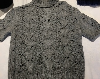 Hand knitted turtleneck sweater
