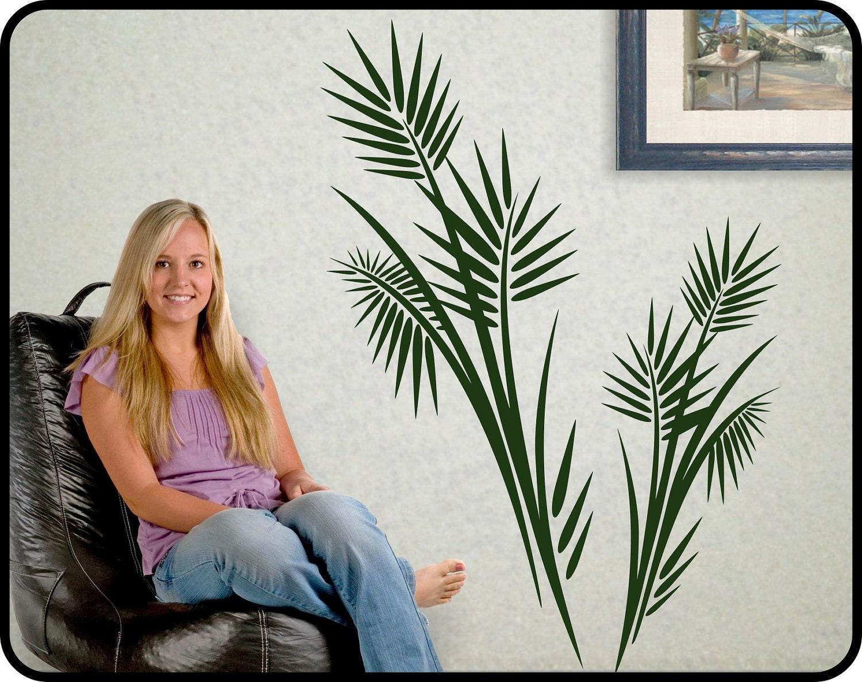 ?zoom  sc 1 st  Etsy & Large PALM TREE wall decal vinyl Tropical wall decor vinyl
