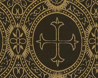 Church fabric black & gold