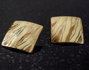 Gold Tiger Stripe Earrings