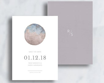 To The Moon & Back, Save the Date Printable Invitation