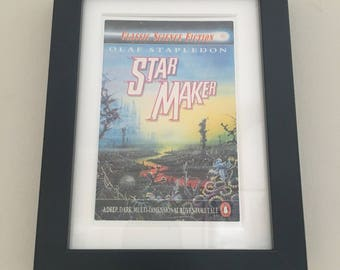 Classic Penguin Science Fiction Book cover print- framed - Star Maker