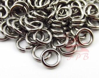 8mm Jump Rings - 50/100/200 Wholesale Stainless Steel 14 Gauge Open Jump Rings F0018884