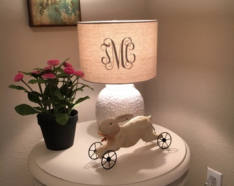 Monogram lamp shade etsy lamp shade monogram decal aloadofball Images