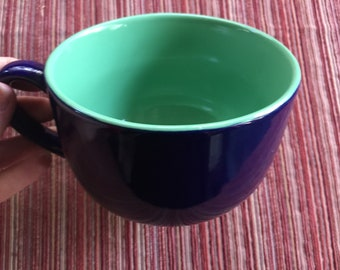 Big Coffee Cup,Big Coffee Mug,Blue Green Cup,Huge Coffee Cup,Dark Blue Mug,Oversize Coffee Cup,Oversize Coffee Mug,Dark Blue Cup,Giant Cup