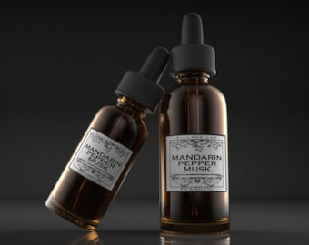 Mandarin Pepper Musk,  beard oil, tonic, all natural