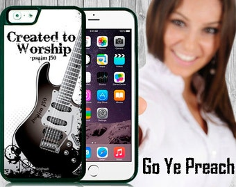 Created to Worship Guitar Case Bible Verse Scripture iPhone case 4/4s 5/5s 5c 6 & Samsung Galaxy case s3 s4 s5 Faith iPhone Cover