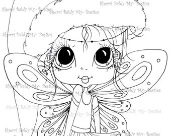 INSTANT DOWNLOAD Digi Stamps Big Eye Big Head Dolls Digi Bestie IMG960 By Sherri Baldy