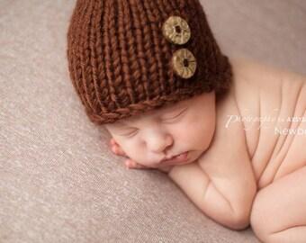 Newborn Boy Hat, Knit Newborn Hat, Fall Newborn Hat Boy, Newborn Photo Prop Boy Newborn Boy Props Newborn Hat Prop Newborn Props Boy