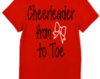 Cheerleader from Bow to Toe T-shirt