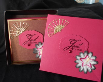 Note card set of 4.  Gift cards.