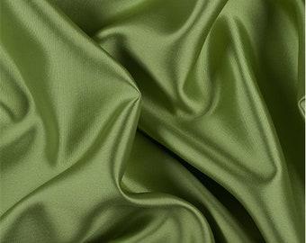 Lime Silk/Wool Gab, Fabric By The Yard