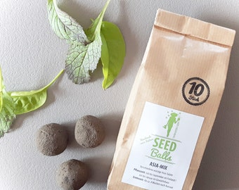 Seedballs 'Asia mix' - 3 or 10 Pack of Seedbombs