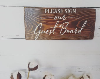Please sign our guest book, guest board, wedding guest book sign, guest bench, wedding signs, wood painted signs, wood wedding decor, sign