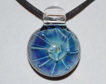 Trippy Glass Pendant - Glass Necklace - Heady Glass Pendant - Hand Blown Lampwork