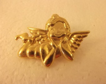 Vintage Gold Plated Angel Pin
