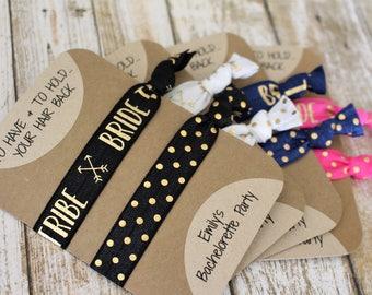 Bride Tribe Hair Ties - Bridesmaid Gift - Stagette Party Favor - Hair Tie Bracelet - Bachelorette Party Favor - Bride Tribe Favor - Shower
