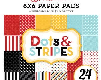 Echo Park Paper MAGICAL ADVENTURE Dots & Stripes 6x6 Scrapbook Paper Pad