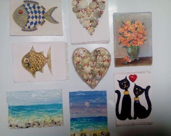 Fridge magnets, magnets handmade