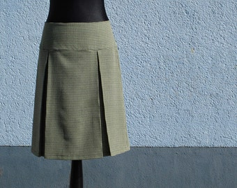 Skirt pleated skirt DORABELLA Houndstooth yellow/black ladies skirt skirt women