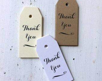 50 Mini Thank You Favor Tags, Wedding Thank You Tags, Bridal Shower Favor Tag, Baby Shower Favor Tag, Wedding Gift Tags