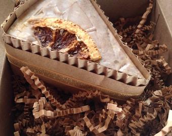 Orange Walnut Spice Soap Cake Slice | Gift for Her