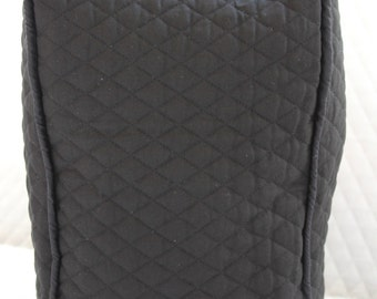 Black Quilted Coffee Maker Cover