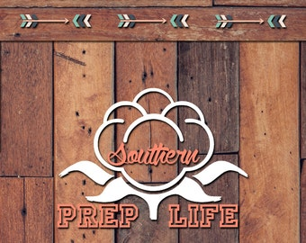 Cotton Southern Prep Life Decal | Yeti Decal | Yeti Sticker | Tumbler Decal | Car Decal | Vinyl Decal