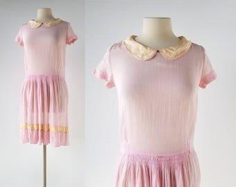 1920s Pink Dress | The It Girl | 20s Dress | XS