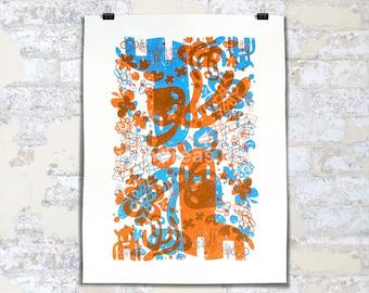 "18x24"" Springtime Crazies (2-color Screen Print)"