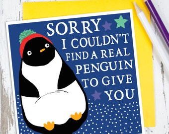 Penguin Birthday Card - Funny Birthday Card - Birthday Card For Friend - Card for Daughter - Birthday Card for Her