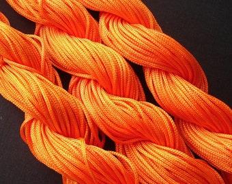 Orange   Braided Nylon Cord Chinese Knot Cord 1mm.