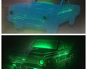 SMALL Chevy Truck with LEDs Choose Your Color!