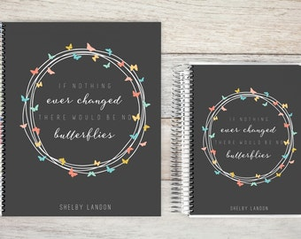 Planner | 2018 Planner | Weekly Planner | Hourly Planner | Custom Planner | Personal Planner | Life Planner | Planners | butterfly quote
