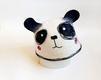 Sauna Hat//Panda Sauna Hat//Totem Animal Hat//Spirit Animal Hat