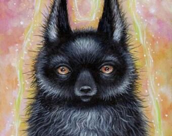 Big Bad Wolf 4x6 art print