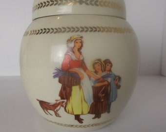 Decorated Yardley Cream Jar