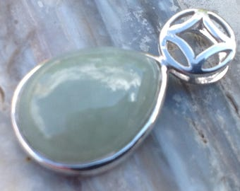 Jadeite Green Pendant Teardrop Pendant ONLY.