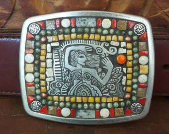 Funky Lady Mosaic Belt Buckle
