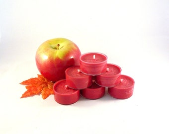 Autumn Apple Soy Tea Light Candles - Set of 6