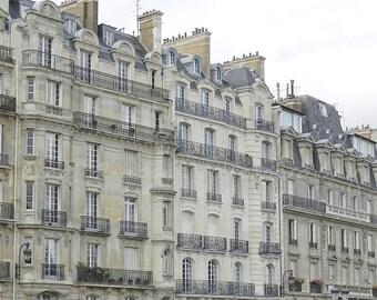 Paris Photography, French Home Decor, Grey Paris Print, Paris Architecture, Paris Rooftops Neutral Wall Art, Paris Wall Art, Paris Streets