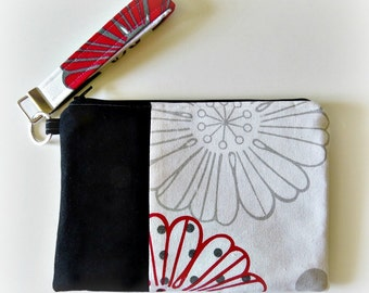 Floral Fabric Clutch/Wristlet